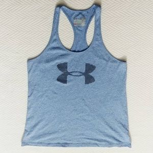 Under Armour semi fitted  blue racerback tank